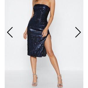 Strapless Sequin Bodycon Dress ✨